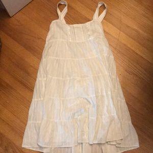 White flowey boho dress
